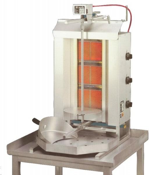 Gas-Gyrosgerät Potis G3 - 455x590x1120mm - komplett - mit Fettwanne - Stellfläche 455x590 mm - Gerät