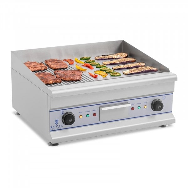 Electric Griddle - 60 cm - ribbed - 2 x 3200 W