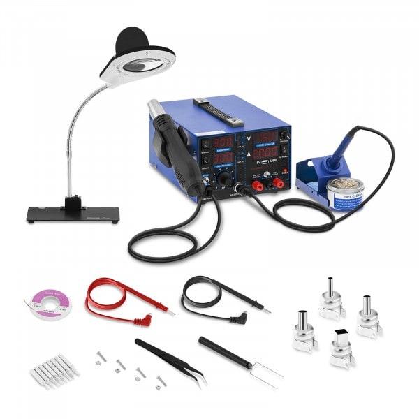 Estación de soldadura - 800 W - 4 LED - con lámpara de aumento