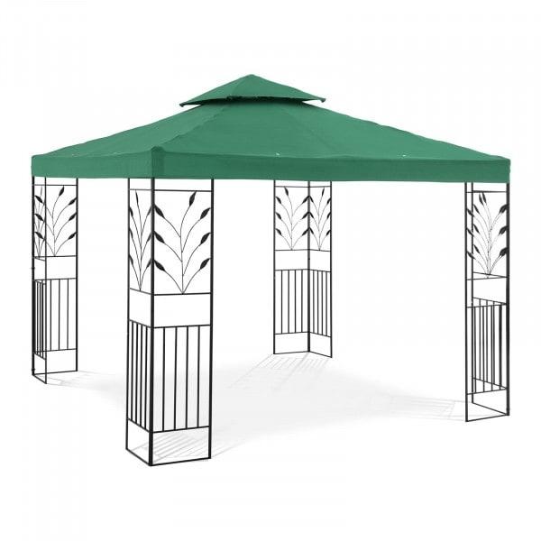 Gartenpavillon - 3 x 3 m - 180 g/m² - dunkelgrün