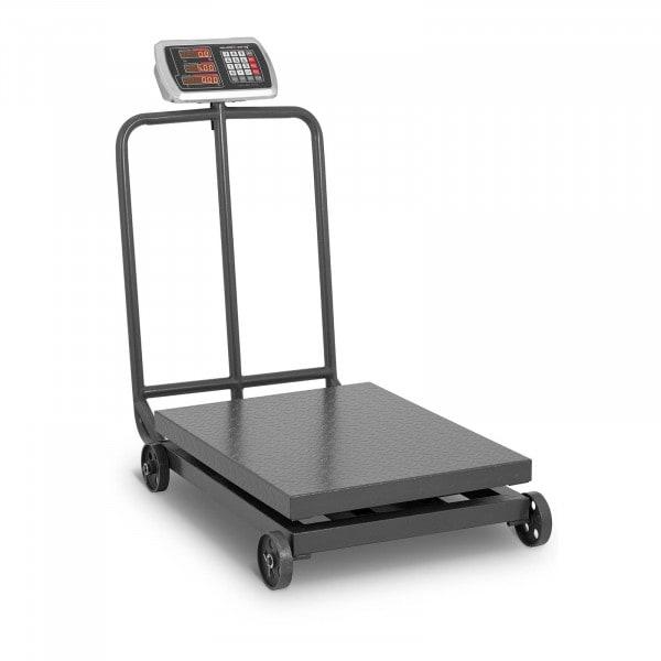 Artigos usados Balança de Plataforma - 600 kg / 100 g - com rodas - LED