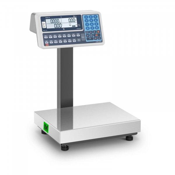 Occasion Balance poids-prix - Calibrage certifié - 60 kg - Écrans LCD opposés