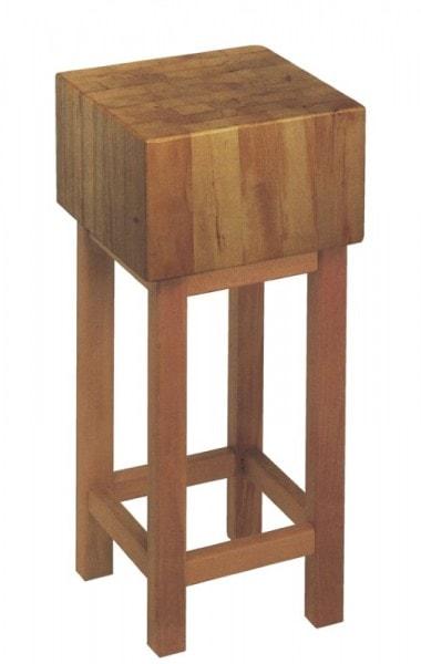 Hackklotz aus gezargtem Holz - 400x400x300 mm