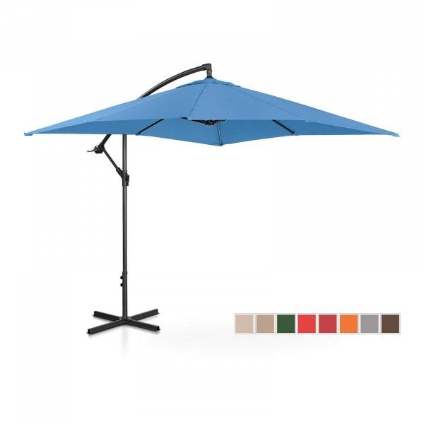 B-varer Hengeparasoll - blå - rektangulær - 250 x 250 cm - kan skråstilles