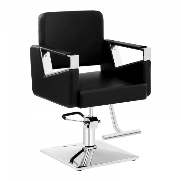 Barber Chair with Footrest BRISTOL BLACK