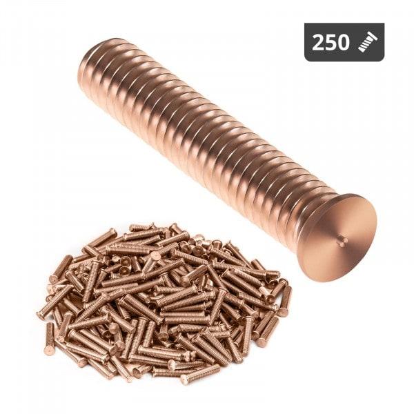 Schweißbolzen - M6 - 30 mm - Stahl - 250 Stück