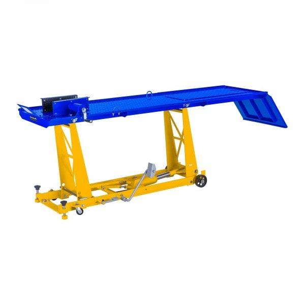 Ponte sollevatore per moto con rampa - 450 Kg - 190 x 53 cm