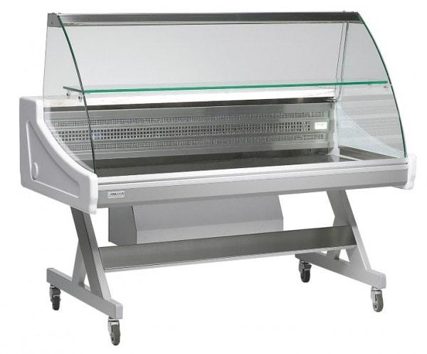 Kühlvitrine - Sado 1500x790x1233 mm - mit Beleuchtung - 230 V - Temp.+4°C/+8°C - kippbare Frontschei