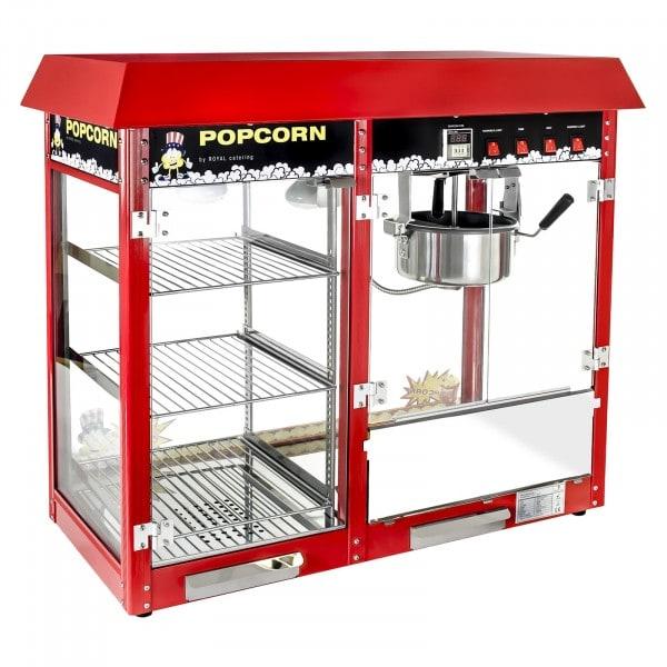 Gesamtansicht 2 von Popcornmaschine - beheizte Auslage - rot