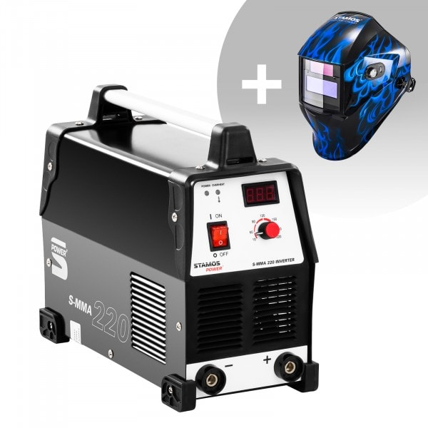 Welding Set Stick Welder - 220 A - 230 V + Welding helmet – Sub Zero - EASY SERIES