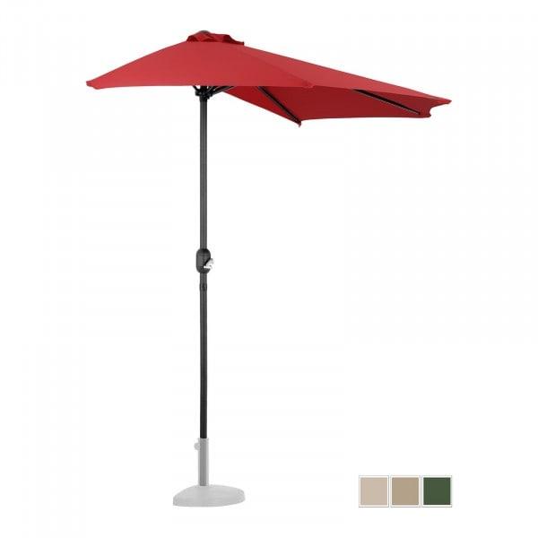 Zboží z druhé ruky Půlkruhový slunečník - červený - pětihranný - 270 x 135 cm