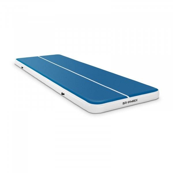 Aufblasbare Turnmatte - 600 x 200 x 20 cm - 400 kg - blau/weiß