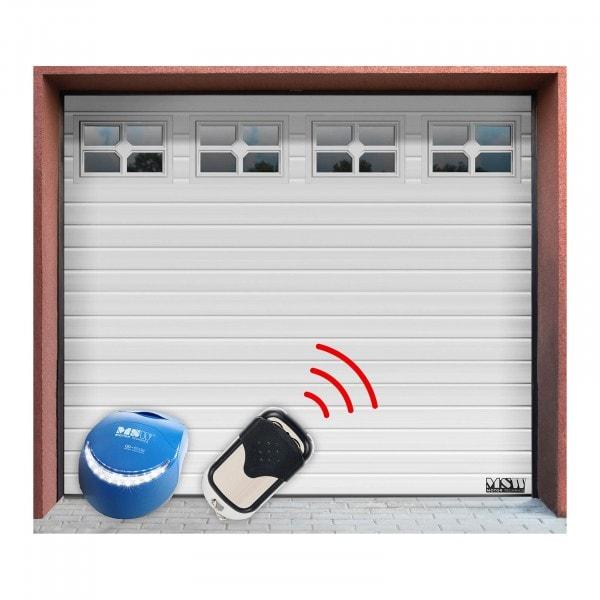B-termék Szekcionált kapu készlet - 2500 x 2150 mm - ablakos - fehér