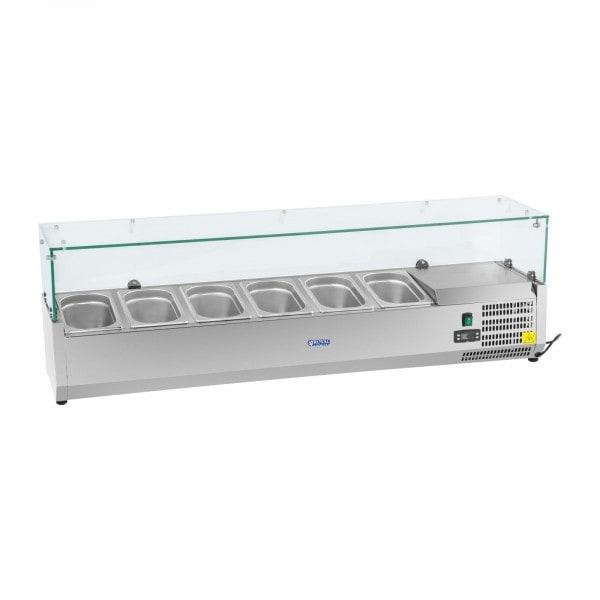 B-Ware Kühlaufsatzvitrine - 140 x 33 cm