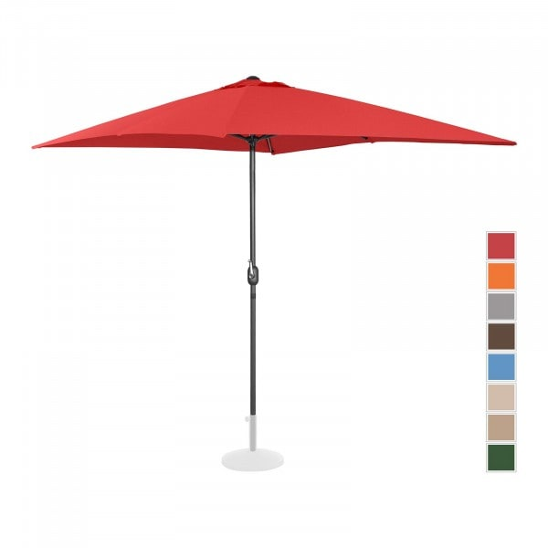 Large Outdoor Umbrella - red - rectangular - 200 x 300 cm