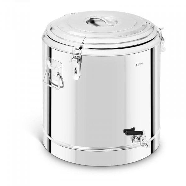 Thermobehälter Edelstahl - 50 L - mit Ablasshahn