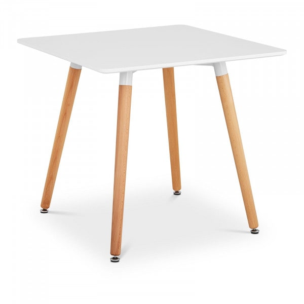 Table - square - 80 x 80 cm - white