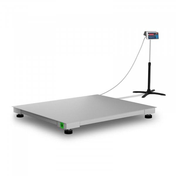 Podlahová váha - cejchovaná - 1 500 kg / 500 g - 100 x 120 cm - LED