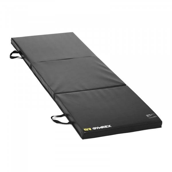 Tweedehands Gymnastiekmat - 180 x 60 x 5 cm - opvouwbaar- zwart