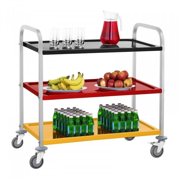 Serving Trolley - 3 Shelves - Up to 150 kg - Multicoloured