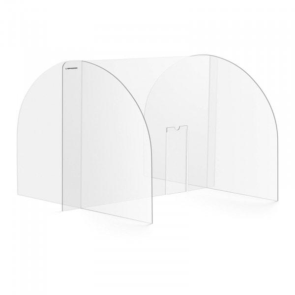 Spuckschutz - 82 x 60 cm - Acrylglas - Durchreiche 25 x 12 cm
