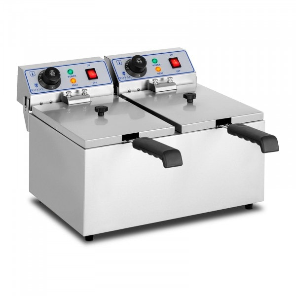 Electric Deep Fryer - 2 x 8 litres