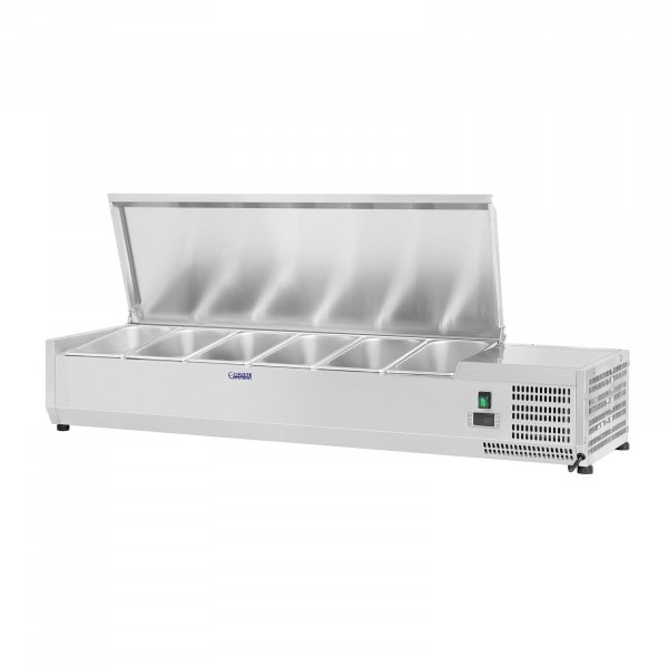 Countertop Refrigerated Display Case - 140 x 33 cm - 6 GN 1/4 Containers