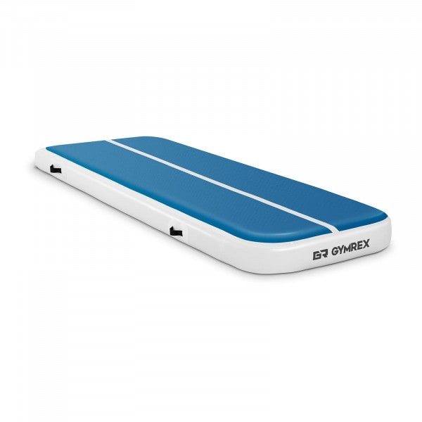 Aufblasbare Turnmatte - 300 x 100 x 20 cm - 150 kg - blau/weiß