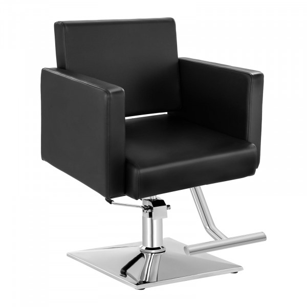 Barber Chair with Footrest BEDFORD BLACK