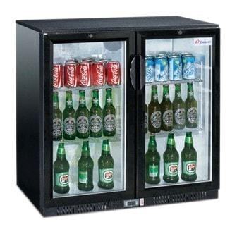Flaschenkühler - 208 Liter - 900 x 520 x 900 mm - 2 Glastüren - 230 W - 230 V - Temp. 0°C / +10°C