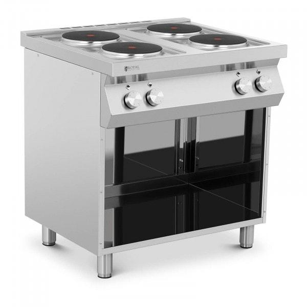 Elektroherd Gastro - 10.400 W - 4 Platten - Unterschrank