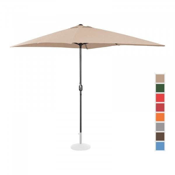 B-Ware Sonnenschirm groß - creme - rechteckig - 200 x 300 cm