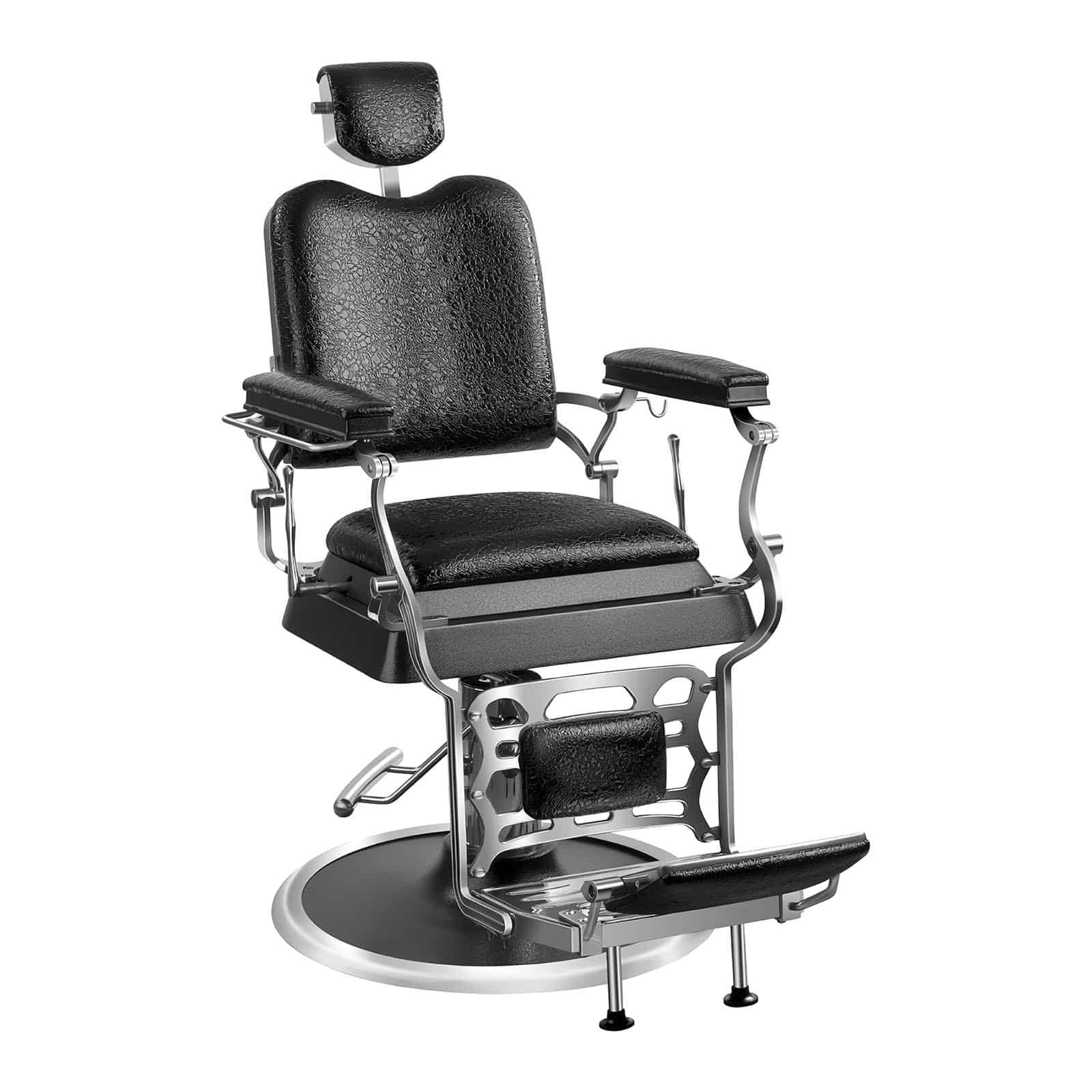 Fotel barberski Physa Sheffield - Czarny