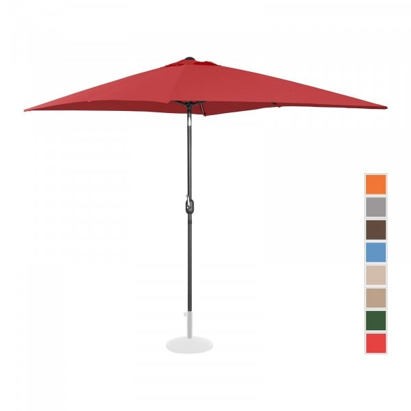 B-varer Stor parasoll - burgunder - rektangulær - 200 x 300 cm - kan skråstilles