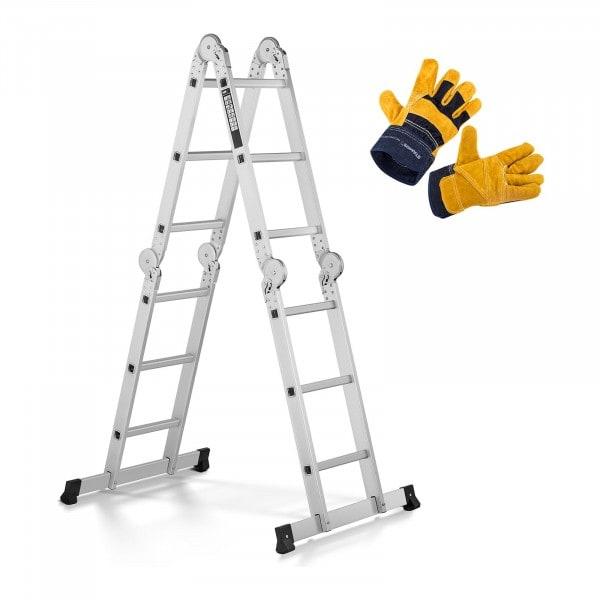 Set de escalera multifunción y guantes de trabajo