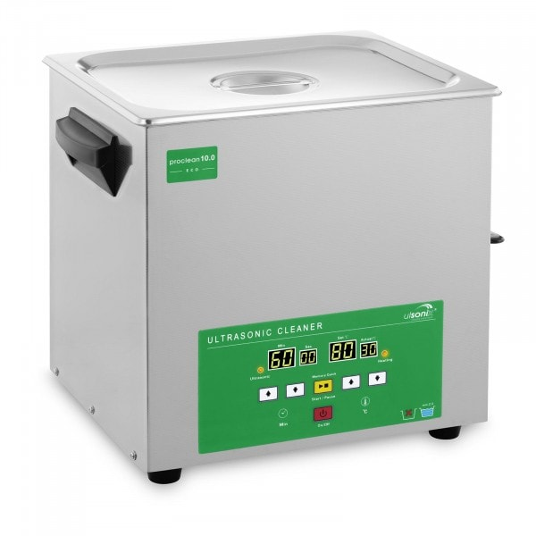 Ultrasonic Cleaner - 10 litres - 180 W - Memory-Quick Eco