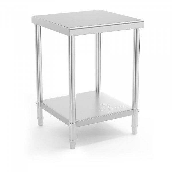 Mesa de trabalho - 60 x 60 cm - 150 kg - aço inoxidável
