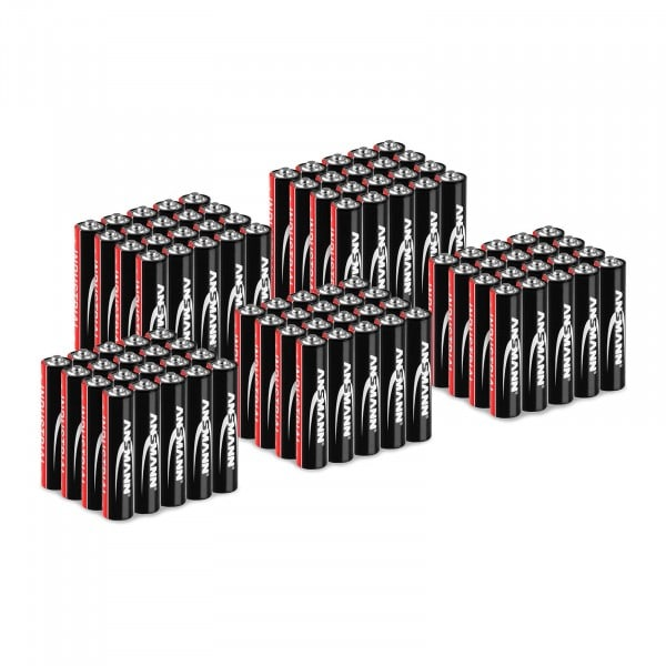 Mega-Sparset 100 x Micro AAA LR03 - Ansmann INDUSTRIAL Alkaline-Batterien - 1,5 V