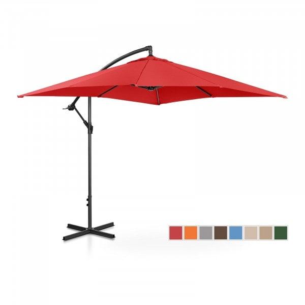 Hanging Parasol - red - square - 250 x 250 cm - tiltable