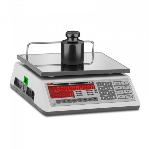 B-Ware Zählwaage - geeicht - 15 kg / 5 g