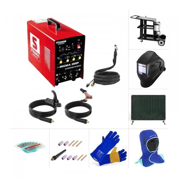 WIG Schweißgerät - Set - Schweißwagen - Schutzkleidung - Zubehör