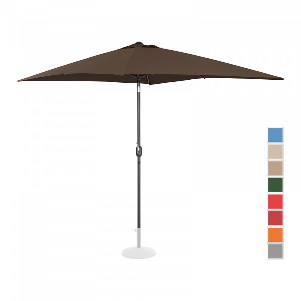 Sonnenschirm groß - braun - rechteckig - 200 x 300 cm - neigbar