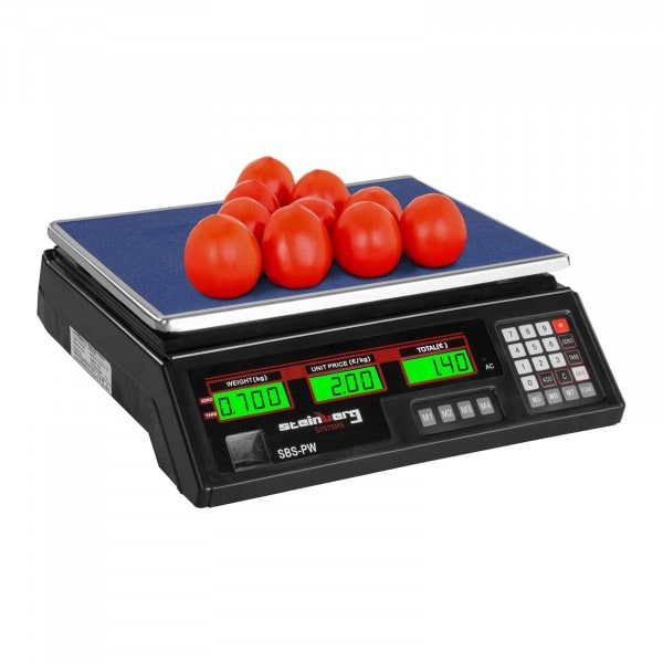 Butikkvekt - 35 kg / 2 g - Sort - LCD