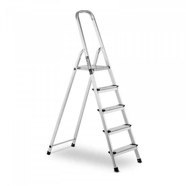 B-varer Aluminium Step Ladder - 5 steps