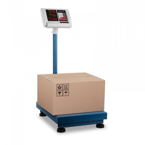 B-varer Plattformvekt – 150 kg / 10 g – 40 x 50 cm – kompakt