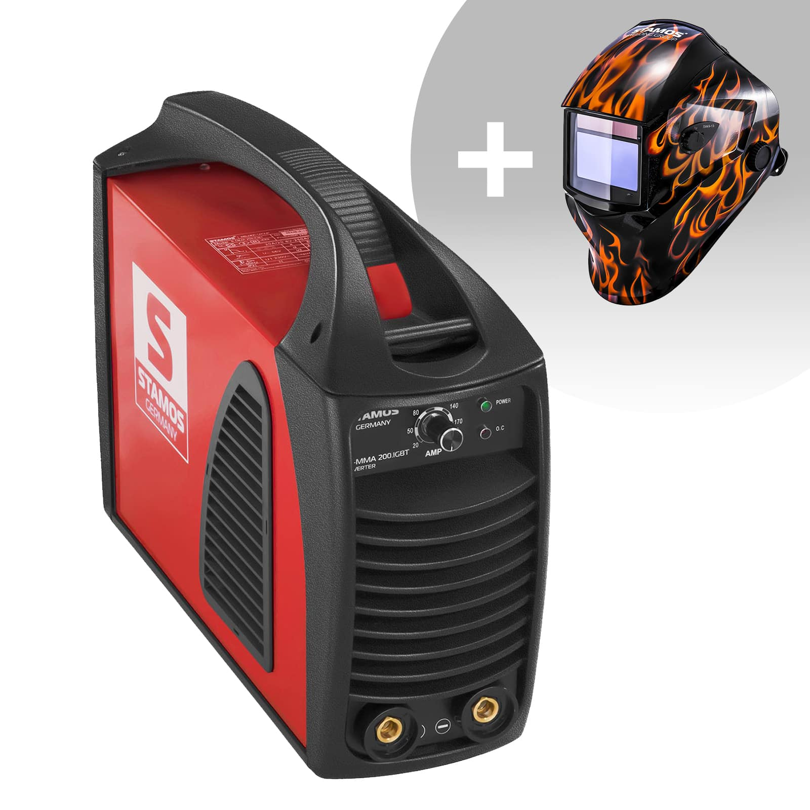 Zestaw spawarka MMA - 200 A - 230 V - IGBT - PLUS maska spawalnicza - Firestarter 500 - Advanced