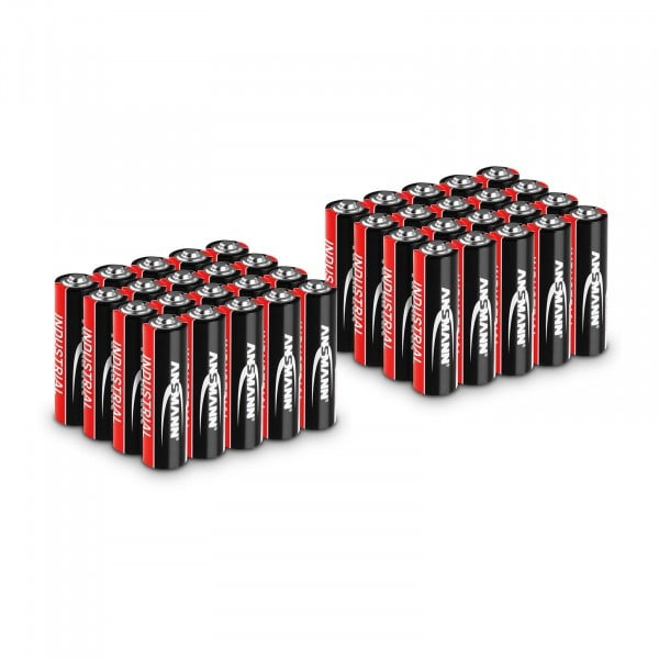 40 x Mignon AA LR6 Batteries - Ansmann INDUSTRIAL Alkaline Batteries - 1.5 V