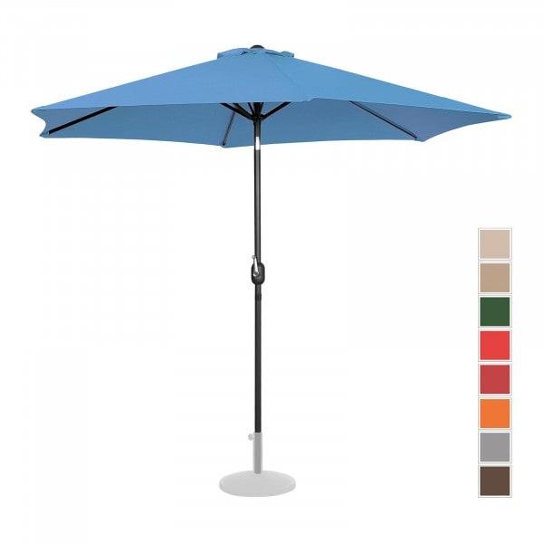 Sonnenschirm groß - blau - sechseckig - Ø 300 cm - neigbar