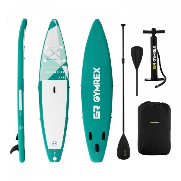 Inflatable SUP Board - 120 kg - green - set with paddle and accessories