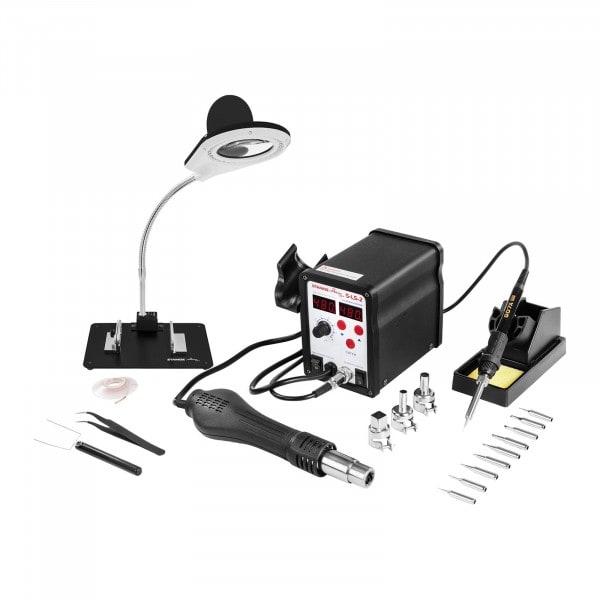 Set Lötstation - 60 Watt - LED-Doppeldisplay + Zubehör